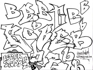 how to draw graffiti letters Graffiti Alphabet Letters here s another entry to the letter studies category no worries i am not going to wait until letter z to start adding tutorials