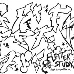 "The graffiti style letter ""f"""