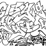 How to draw G in graffiti style