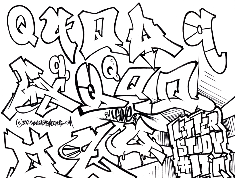 Happy New Year! Letter Studies: The Graffiti Style Letter Q