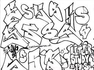 Graffiti Style Letter S Letter Study