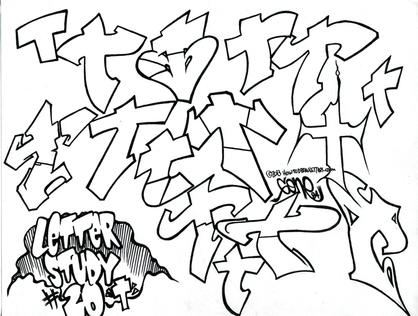 Letter Studies: The Letter T in Graffiti Styles