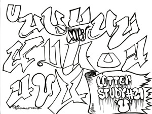 Graffiti Letter U