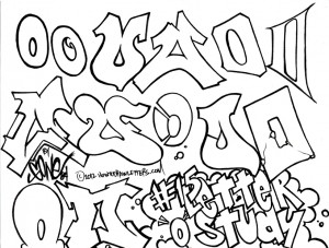"""Some examples of the letter """"O"""" in my own graffiti styles"""